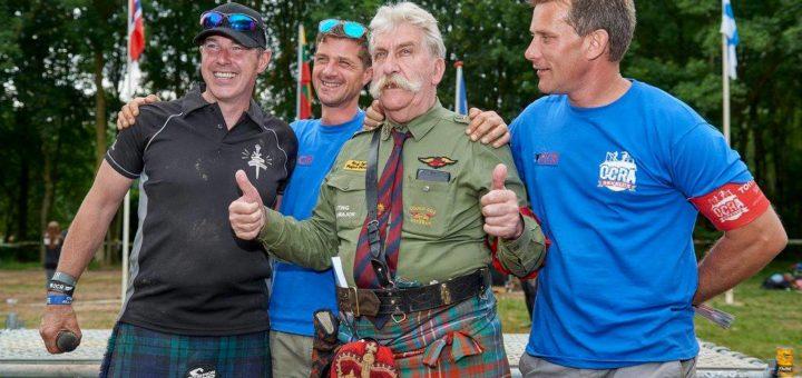 Da destra Michel De Jong, Mr Mouse, Bas Smit e Mark Leinster