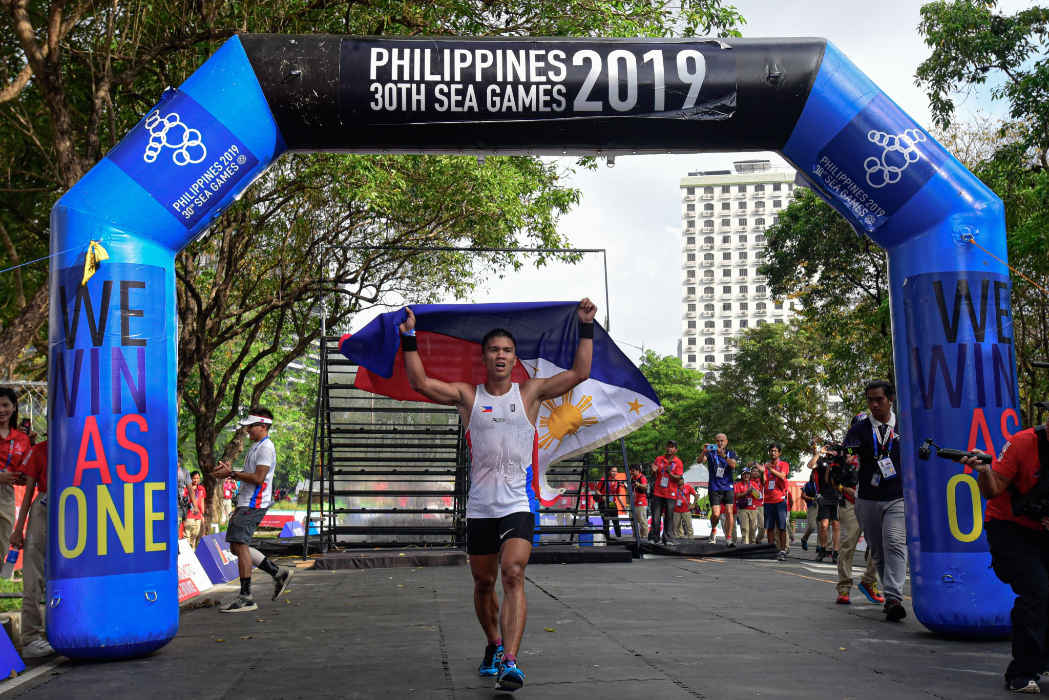 La corsa ad ostacoli era parte del programma di giochi del Sud Est asiatico del 2019 © Getty Images